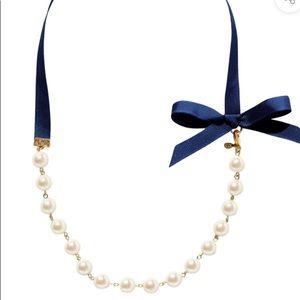 Kiel James Patrick Queen B Ribbon & Pearl Necklace